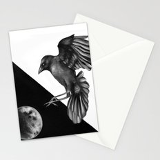 Crow and the Moon 2 Stationery Cards