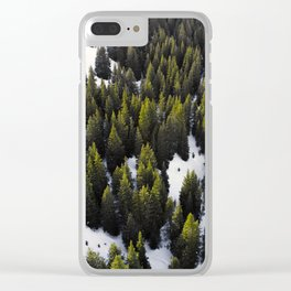 Winter Forest Clear iPhone Case