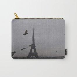 Pigeons Eiffel Tower Paris France Carry-All Pouch