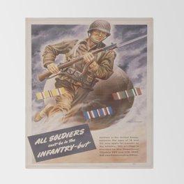 Vintage poster - U.S. Infantry Throw Blanket
