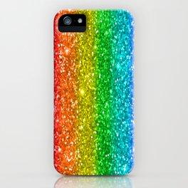 Glittery Rainbow iPhone Case