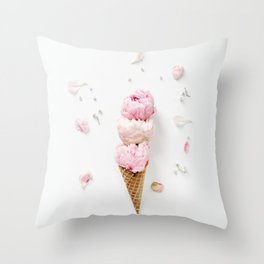 Triple Scoop Throw Pillow