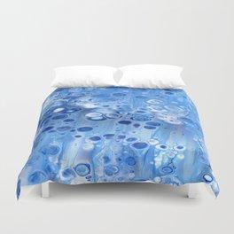 Blue Bubble Blue Cells Duvet Cover