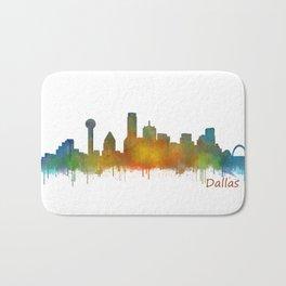 Dallas Texas City Skyline watercolor v02 Bath Mat