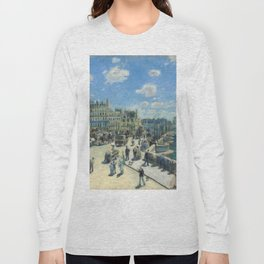 Pont Neuf Paris Painting by Auguste Renoir Long Sleeve T-shirt
