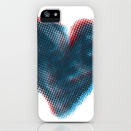 Red and Blue Heart iPhone Case