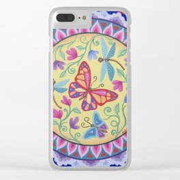 Spring Melody Mandala Clear iPhone Case