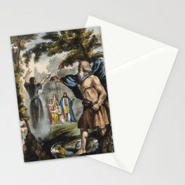 Raphael's Prophetic Almanack: a mob in France, Merlin and King Arthur, and the Boxer Rebellion (1840 Stationery Cards