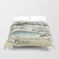 notebook Duvet Covers featuring Sealife Notebook by Common Design
