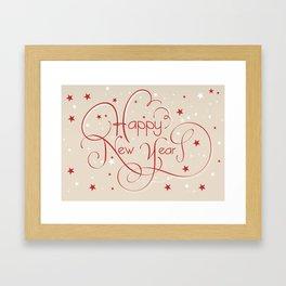 Happy New Year Framed Art Print