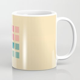 Retro Squares  - Colorful Decorative Abstract Art Pattern Coffee Mug
