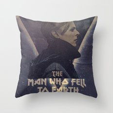 David Bowie The man who fell to earth Throw Pillow