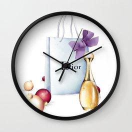 Shopping at Christmas Wall Clock