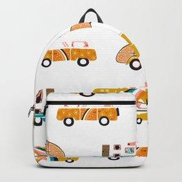 Retro Road Trip – White Backpack