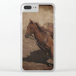 Break Away Rodeo Horse Clear iPhone Case