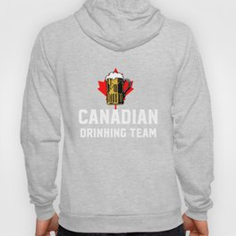 Canadian Drinking Team Beer And Maple Leaf Canada Hoody