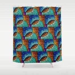Kindred Spirits - Spiritual Mosaic Painting by Labor Of Love artist Sharon Cummings Shower Curtain