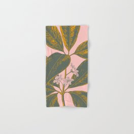 Modern Botanical Banana Leaf Hand & Bath Towel