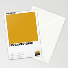 36 Chambers Yellow Stationery Cards