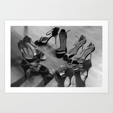Sea of shoes Art Print