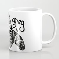 greg guillemin Mugs featuring Greg the Ghost by Wealie