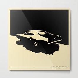 Mercury Marauder, Black on cream Metal Print