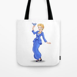 Princess Hillary Clinton (Trumble Cartoon) Tote Bag