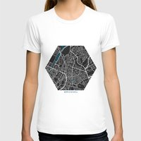 brussels T-shirts featuring Brussels city map black colour by MCartography