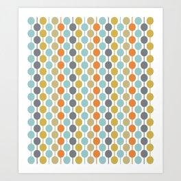 Retro Circles Mid Century Modern Background Art Print