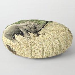 Little African Elephant Acacia Tree Safari Africa Floor Pillow