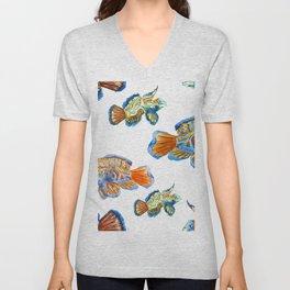 Fish Pattern 04 Unisex V-Neck