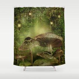 Enchanted Mushrooms Shower Curtain