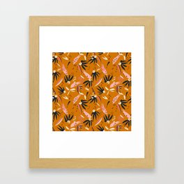 ADOBO GARDEN OCHRE Framed Art Print