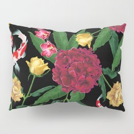 Black Tropical Pillow Sham