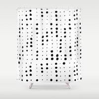 dot Shower Curtains featuring dot dot dot by Berlyn Hubler