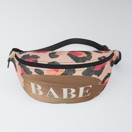 Babe – Hot Pink Leopard Print Fanny Pack
