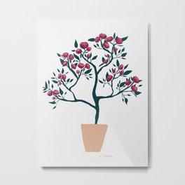 Potted Roses Metal Print