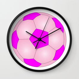 Pink And White Football Wall Clock
