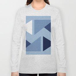 Indigo modern triangle design Long Sleeve T-shirt