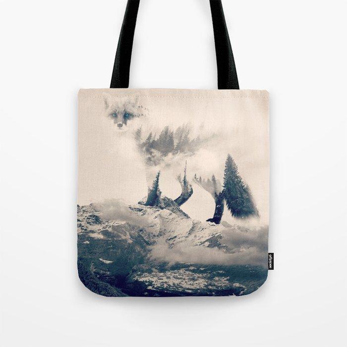 Fox Mountain Walker Tote Bag By Yazdesigns