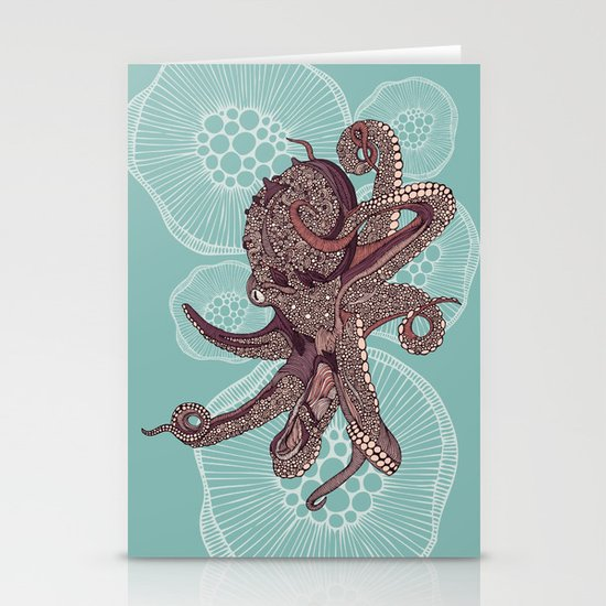Octopus Bloom Stationery Cards