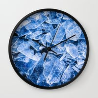 ice Wall Clocks featuring Ice by digital2real