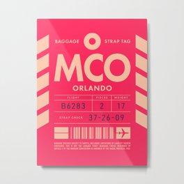 Baggage Tag D - MCO Orlando USA Metal Print