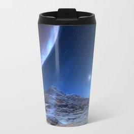 Extraterrestrial Landscape : Galaxy Planet Blue Travel Mug
