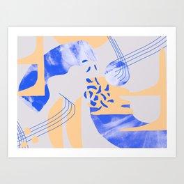 MOON WALK Art Print