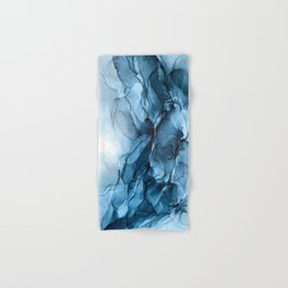 Deep Blue Flowing Water Abstract Painting Hand & Bath Towel