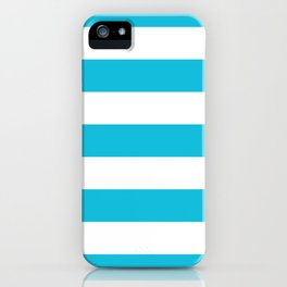 Bright Blue Stripes iPhone Case
