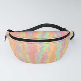 Colorful Neon Glitch Pattern Fanny Pack