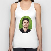 james franco Tank Tops featuring James Franco by WeedPornDaily