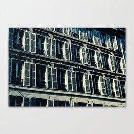 Parisian windows Canvas Print